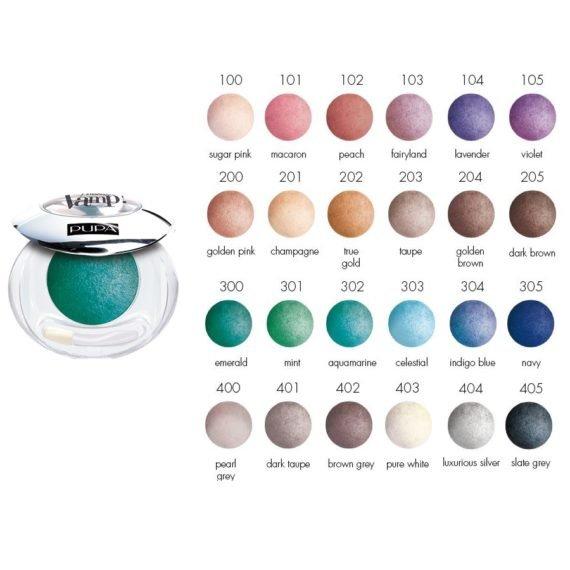 Vamp Wet Dry Eyeshadow Kleurkaart